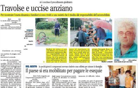Investito da un'auto: risarcimento ciclista investito Monza