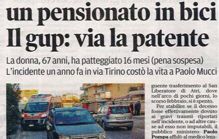 Incidente bicicletta Pescara risarcimento danni