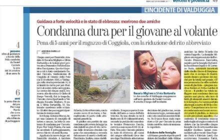 Incidente mortale Vercelli risarcimento danni