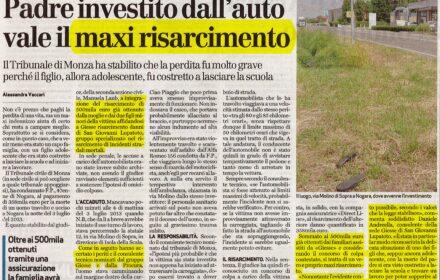 Incidente mortale moto Verona maxi risarcimento