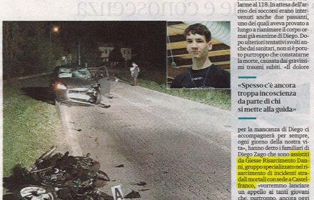 Incidente motorino Treviso risarcimento danni