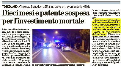 Investimento mortale a Brescia: risarcimento ottenuto