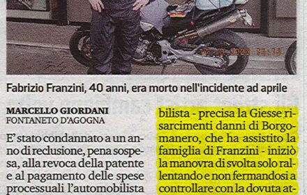 Incidente mortale motociclista Novara