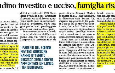 Risarcimento pedone investito Udine