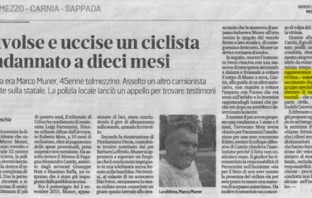 Incidente stradale mortale ciclista Udine